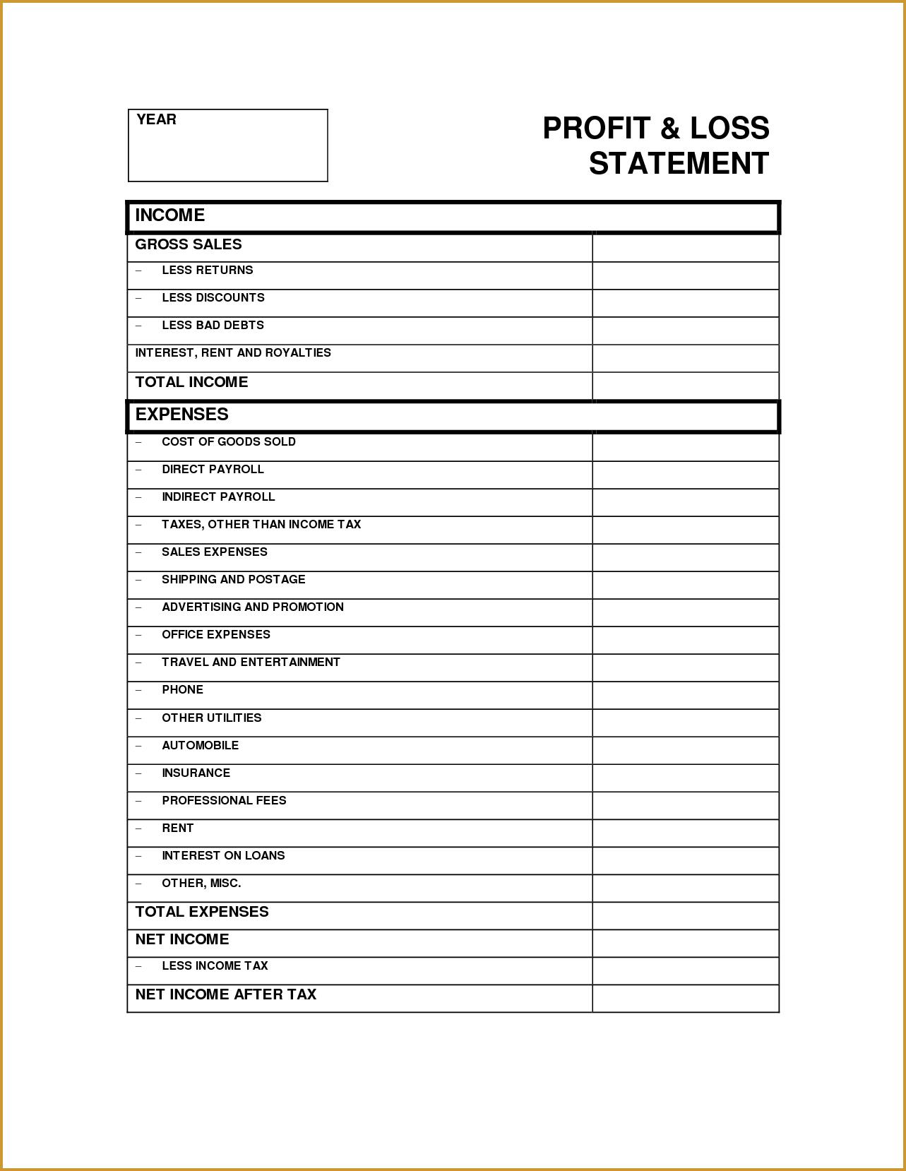 Profit Loss Statement Form 532372.png (1283×1658)