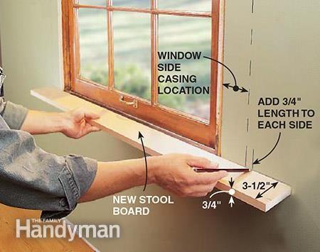 Making New Window Stools Interior Window Trim Craftsman Window Trim Diy Window Frame
