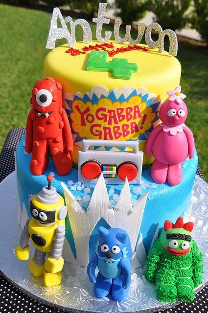 Remarkable Yo Gabba Gabba Kids Birthday Party Birthday Cake Kids Birthday Funny Birthday Cards Online Elaedamsfinfo