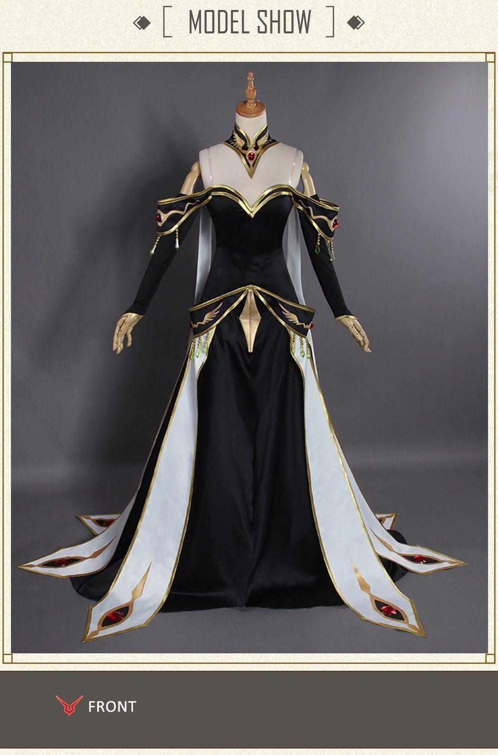 UWOWO CODE GEASS Lelouch of the Rebellion C.C Cosplay Empress Queen Costume New