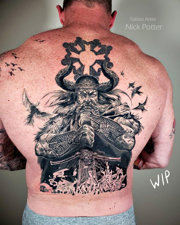 Viking Warrior Viking tattoos, Viking warrior, Tattoos