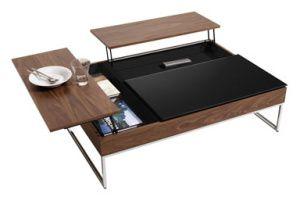 Le Mobilier Transformable Des Idees De Genies Table De Salon Table Basse Escamotable Mobilier De Salon