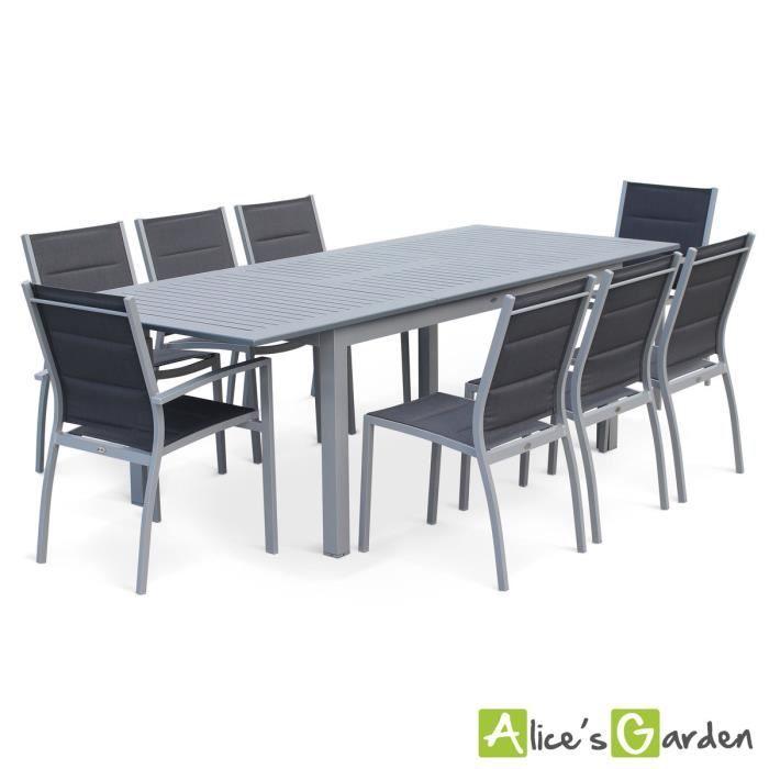 Vite ! Découvrez l\'offre Salon de jardin 8 places table à rallonge ...