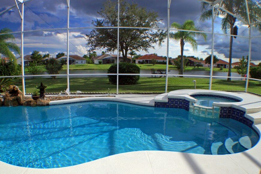 45 Screened In And Covered Pool Design Ideas Indoor Pool Design Backyard Pool Pool Patio