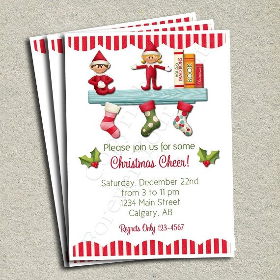 Christmas Party Invitation - FREE Thank You Card included ...