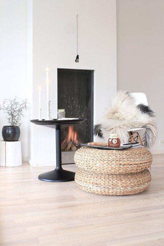 Versatile Style Spotting Ikea S Woven Pouf Alseda