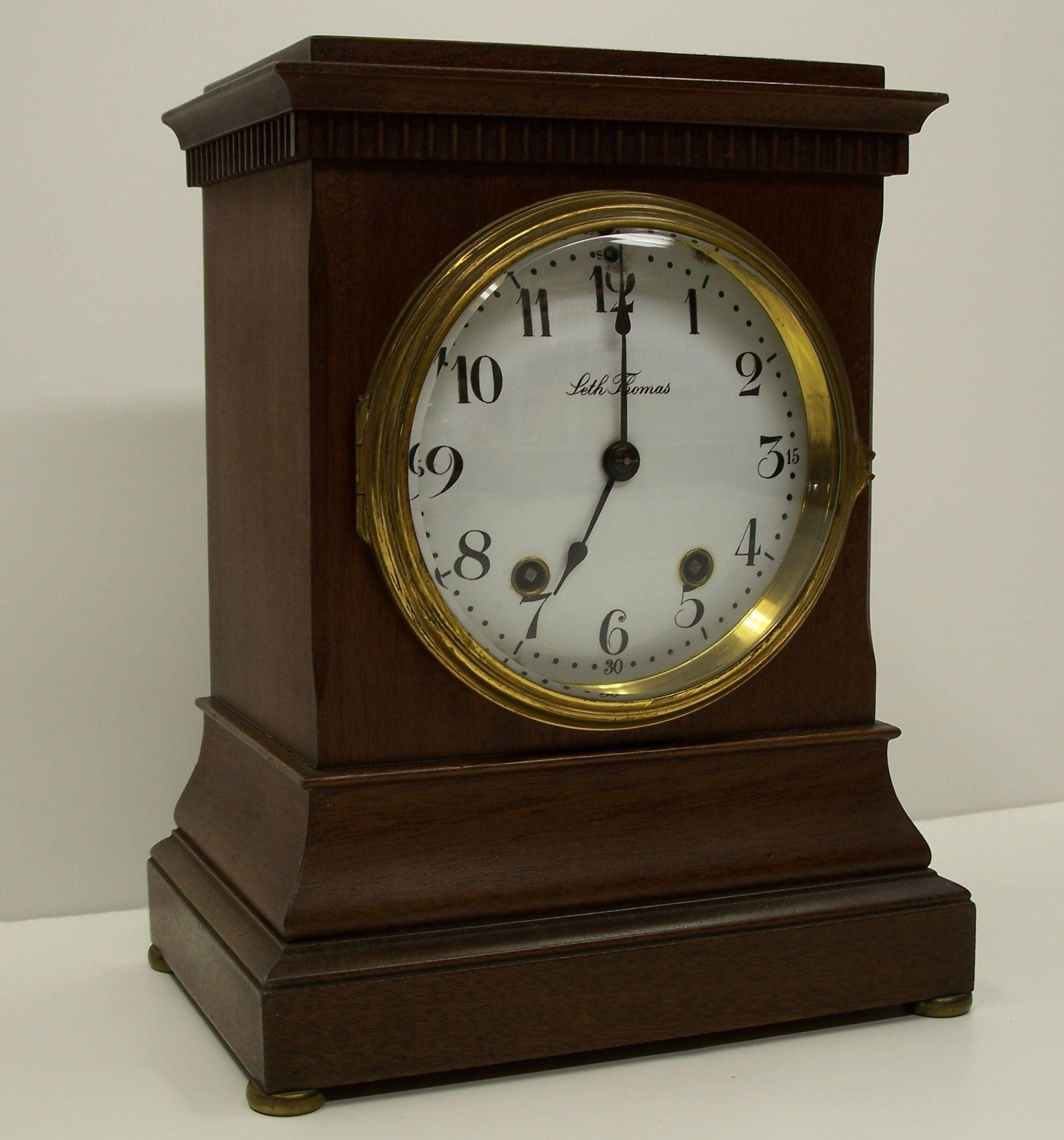 Antique Seth Thomas Adamantine 8 Day Mantle Clock Bell Chime