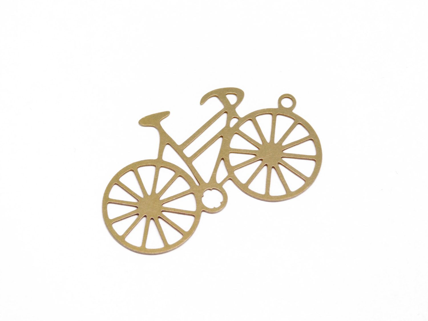 New to GoldieSupplies on Etsy: Raw Brass Bicycle Pendant 1 Pc Exclusive at Goldie Supplies (2.99 USD)