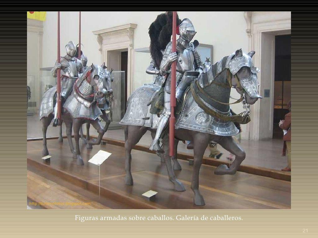 Figuras armadas sobre caballos. Galería de caballeros. Museo ...