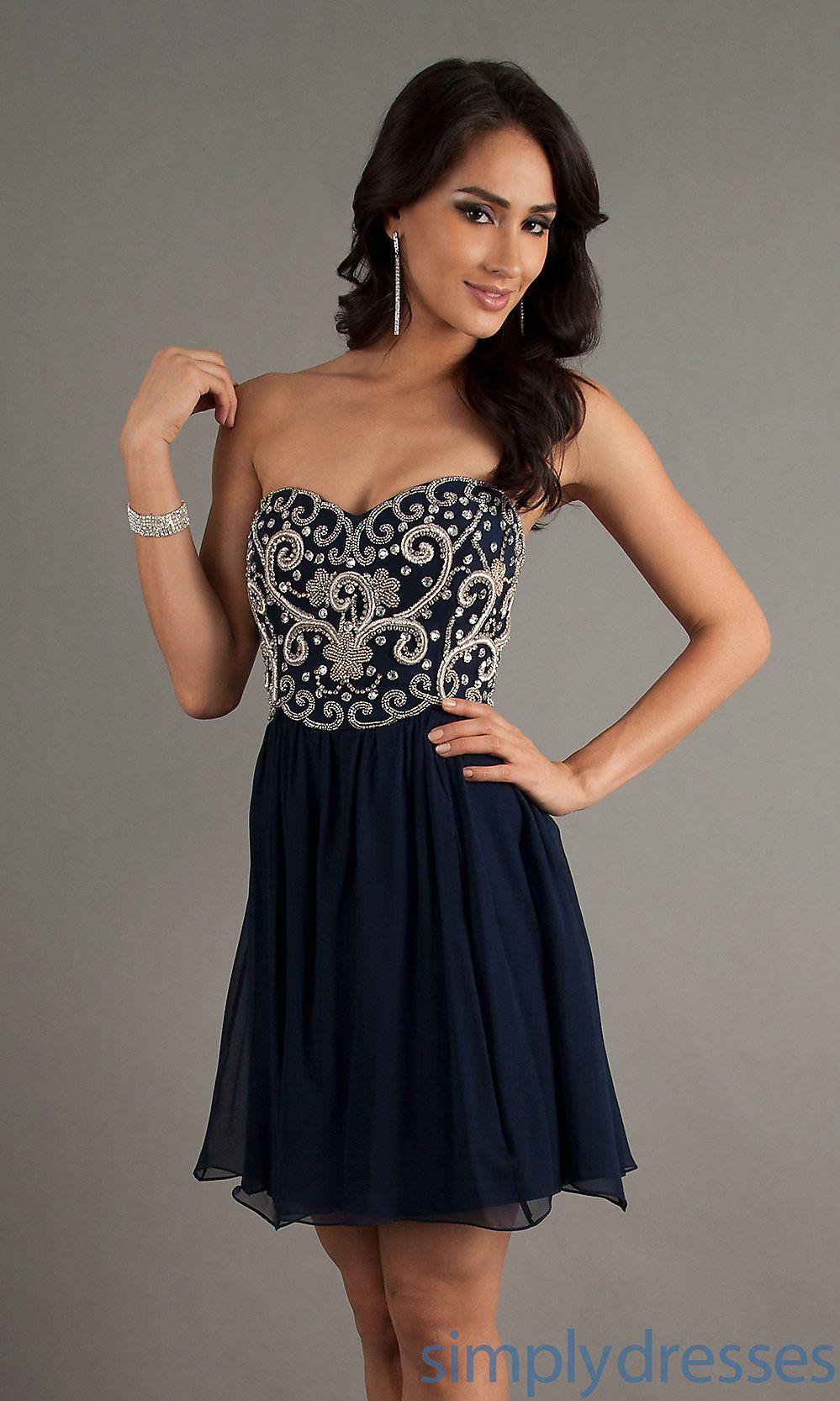 Navy Blue Short Prom Dresses - Ocodea.com