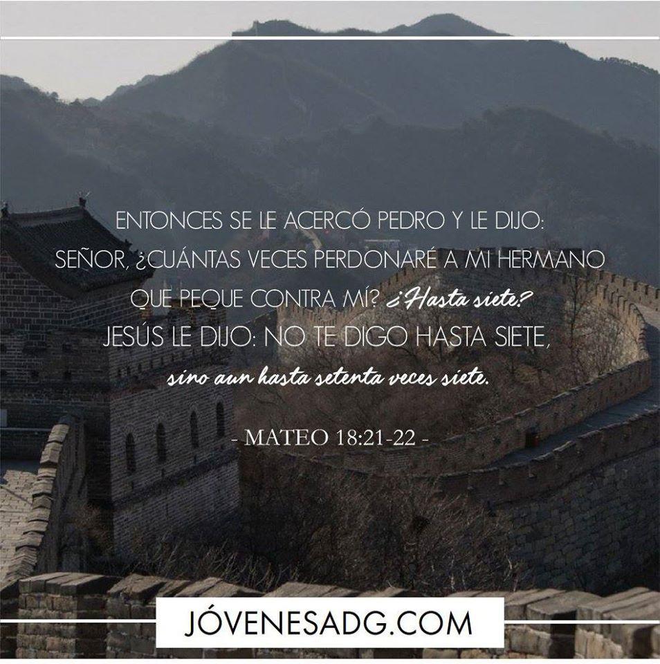 Devocional Martes Semana 5 Cuántas Veces Perdonaré A Mi Hermano Que Peque Contra Mí Mateo 18 21 22 Eresperdo Versículos Bíblicos Bíblicos Palabra De Vida