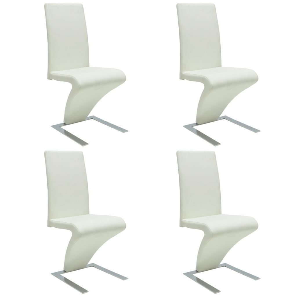H4home Modern Dining Chair 4 Pcs Artificial Leather Zigzag Shape