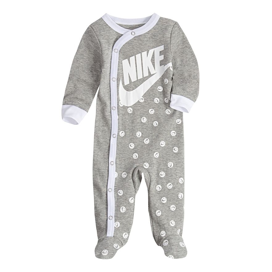 140e05d7 Baby Nike Smiley Logo Gray Footed Coverall, Infant Boy's, Size: 6 ...