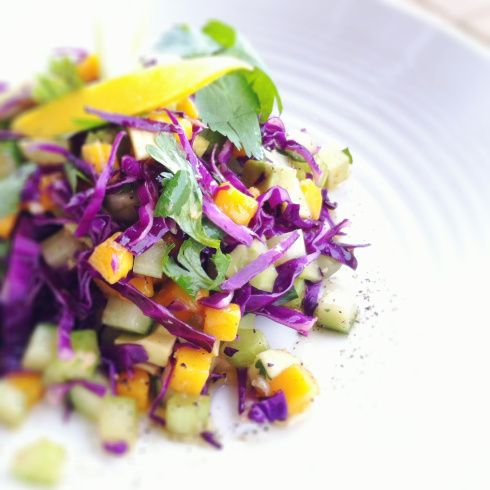 Celery, Cucumber, Mango Salad | Food With Presence