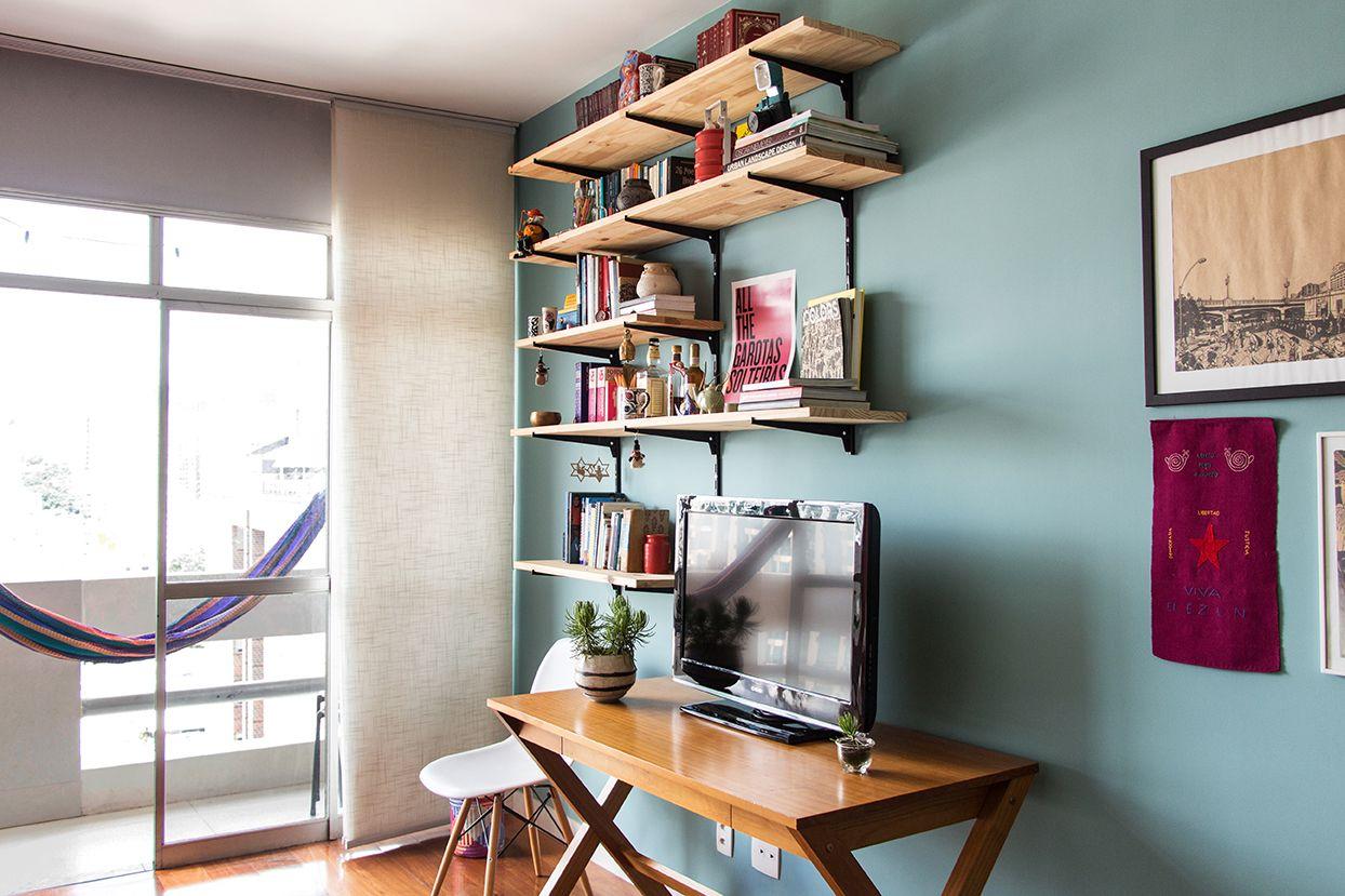 Apartamento Fc Tabua De Pinus Estante De Livros E Estante De ~ Prateleira Para Livros Quarto E Cores Pra Quarto De Casal