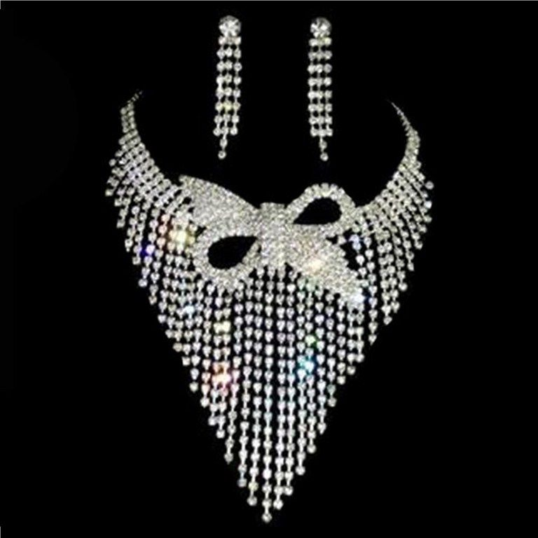 Prettiest Accessories For Wedding Day Alloy Silver Rhinestone Two