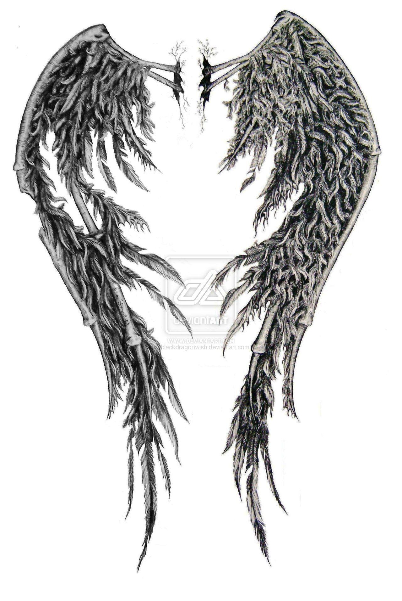 fallen angel wings tattoo fallen angel wings edited by swarzeztier designs interfaces tattoo. Black Bedroom Furniture Sets. Home Design Ideas