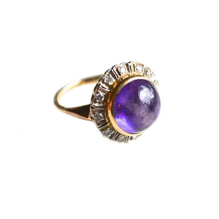 BLOG - The Cut. art deco amethyst and diamond engagement ring