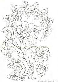 Kolay çiçek Desen Googleda Ara Ahşap Boyama çizimleri