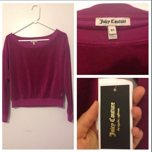 Juicy Couture shirt Purple Juicy Couture sweat shirt Juicy Couture Tops