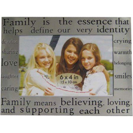 4x6 Word Picture Frame, Silver/Black