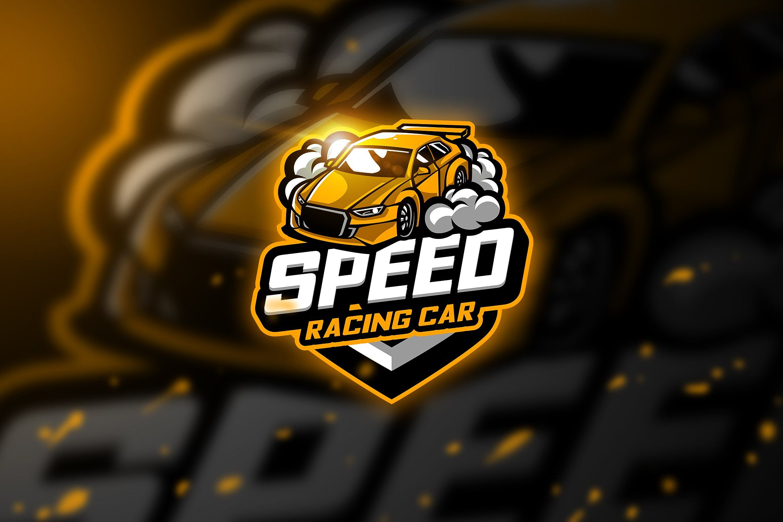 Racing carz Mascot & Esport Logo Automotive logo