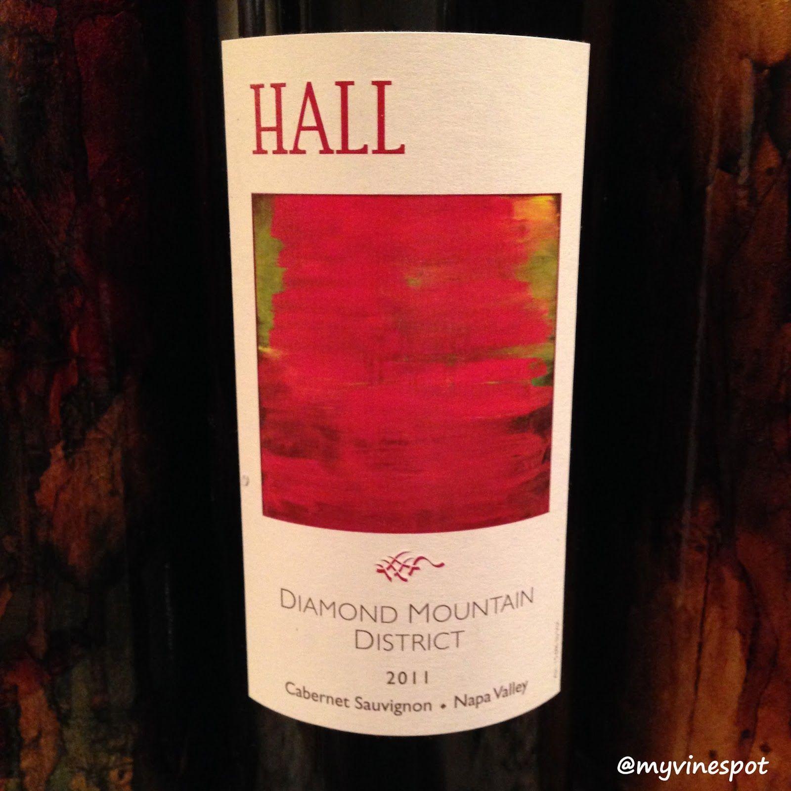 Quick Sip Hall Wines 2011 Diamond Mountain District Cabernet Sauvignon Wine Bottle Carrier Berry Fruit Wine Bottle