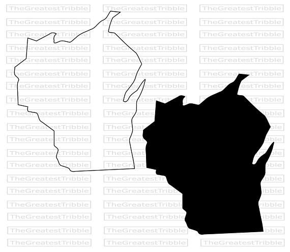 Wisconsin State Map Svg Png Jpg Vector Graphic Clip Art Etsy Clip Art State Map Wisconsin State