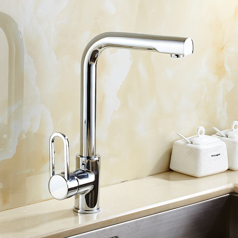 fashion High quality chrome single lever brass hot and cold 360 ...