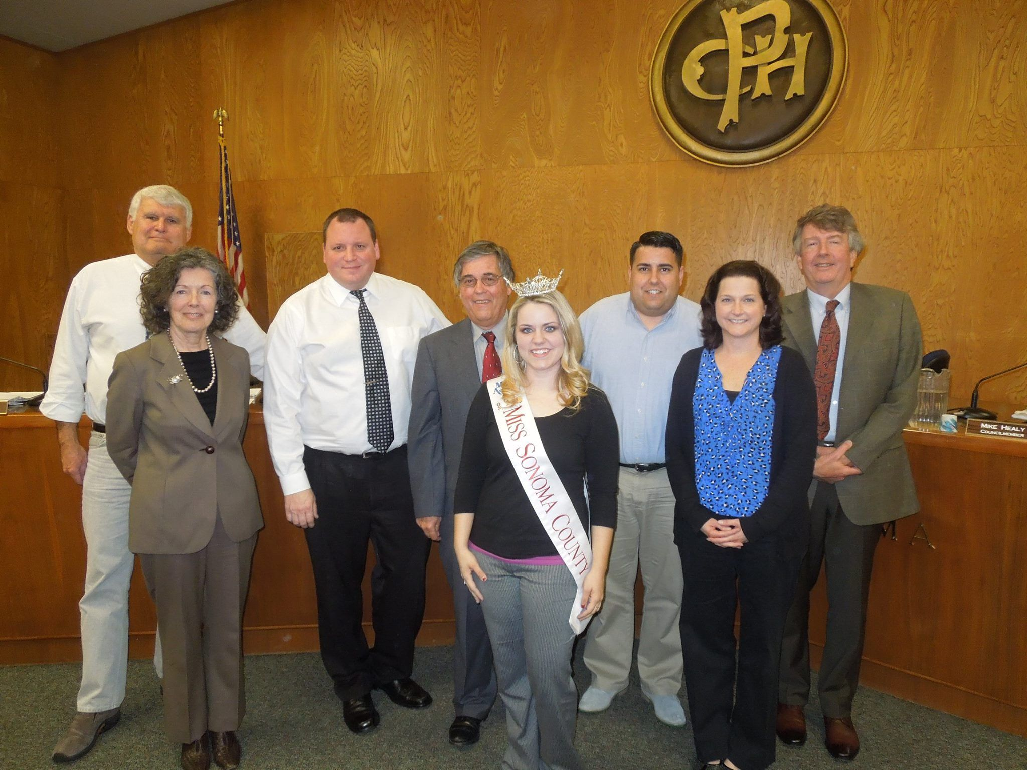Miss Sonoma County Visiting The Petaluma City Council With