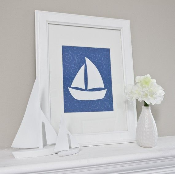 nautical nursery art  컬러 디자인  Pinterest