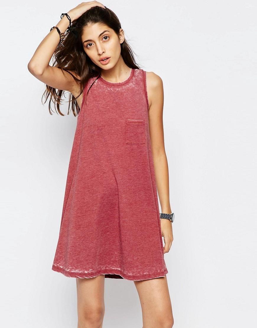ASOS | ASOS Drop Arm Trapeze Dress In Burnout at ASOS | Costumery ...
