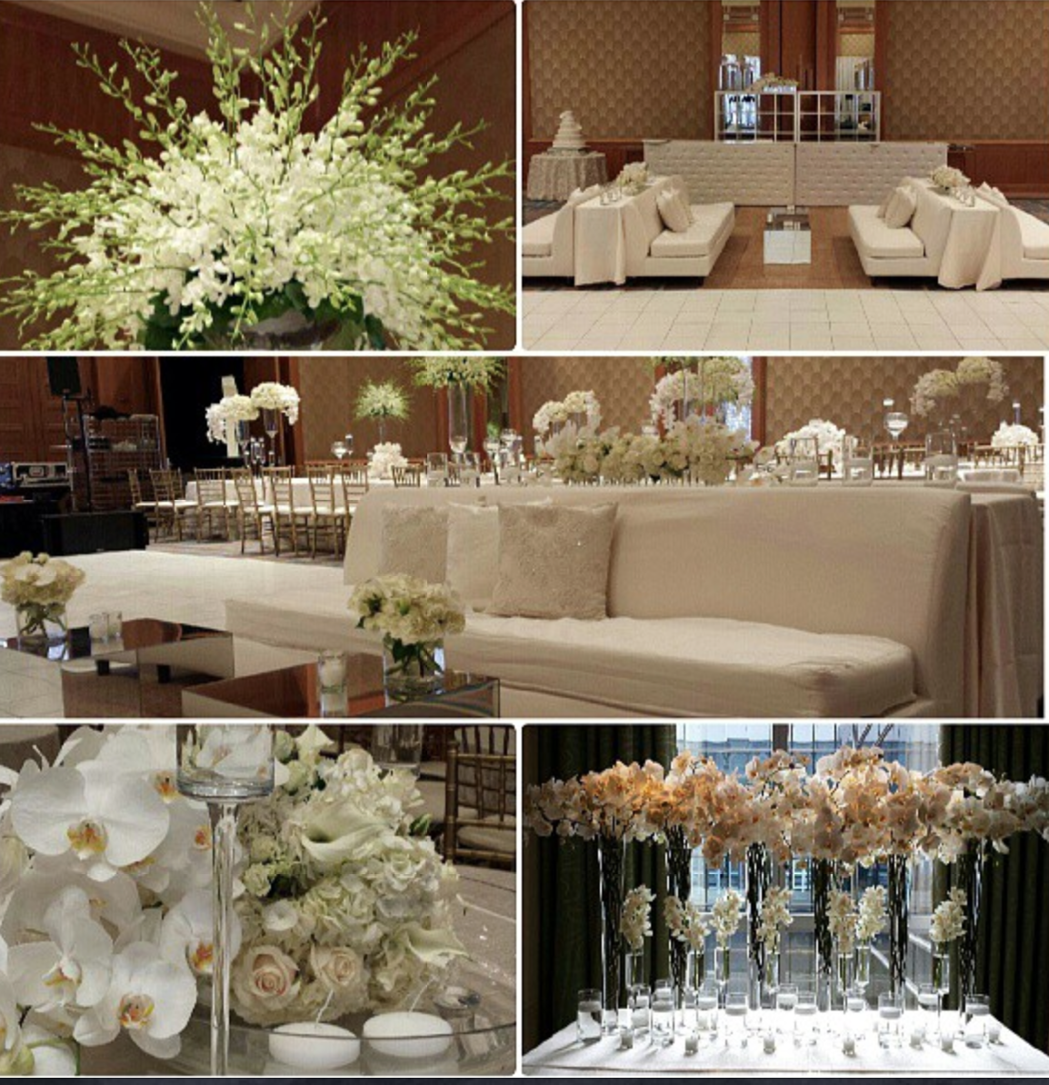 White wedding at the Four Seasons Miami Florals and Decor