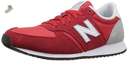 cf156c6c36d0a New Balance Women's wl420 Sneaker, Red/White/Silver Mink, 7.5 B US ...