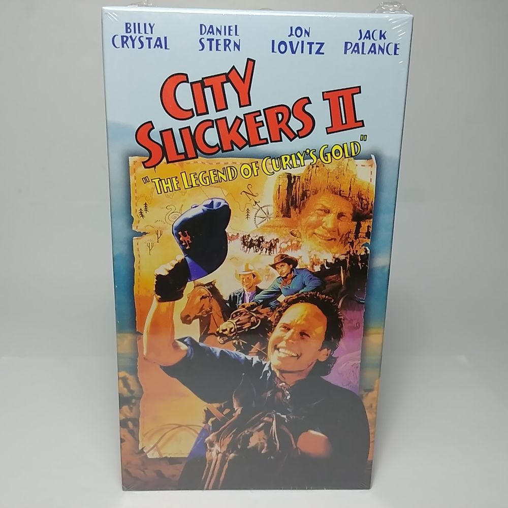 New Sealed City Slickers Ii 1997 Vhs Tape The Legend Of Curly S Gold With Images City Slickers Vhs Tapes Vhs