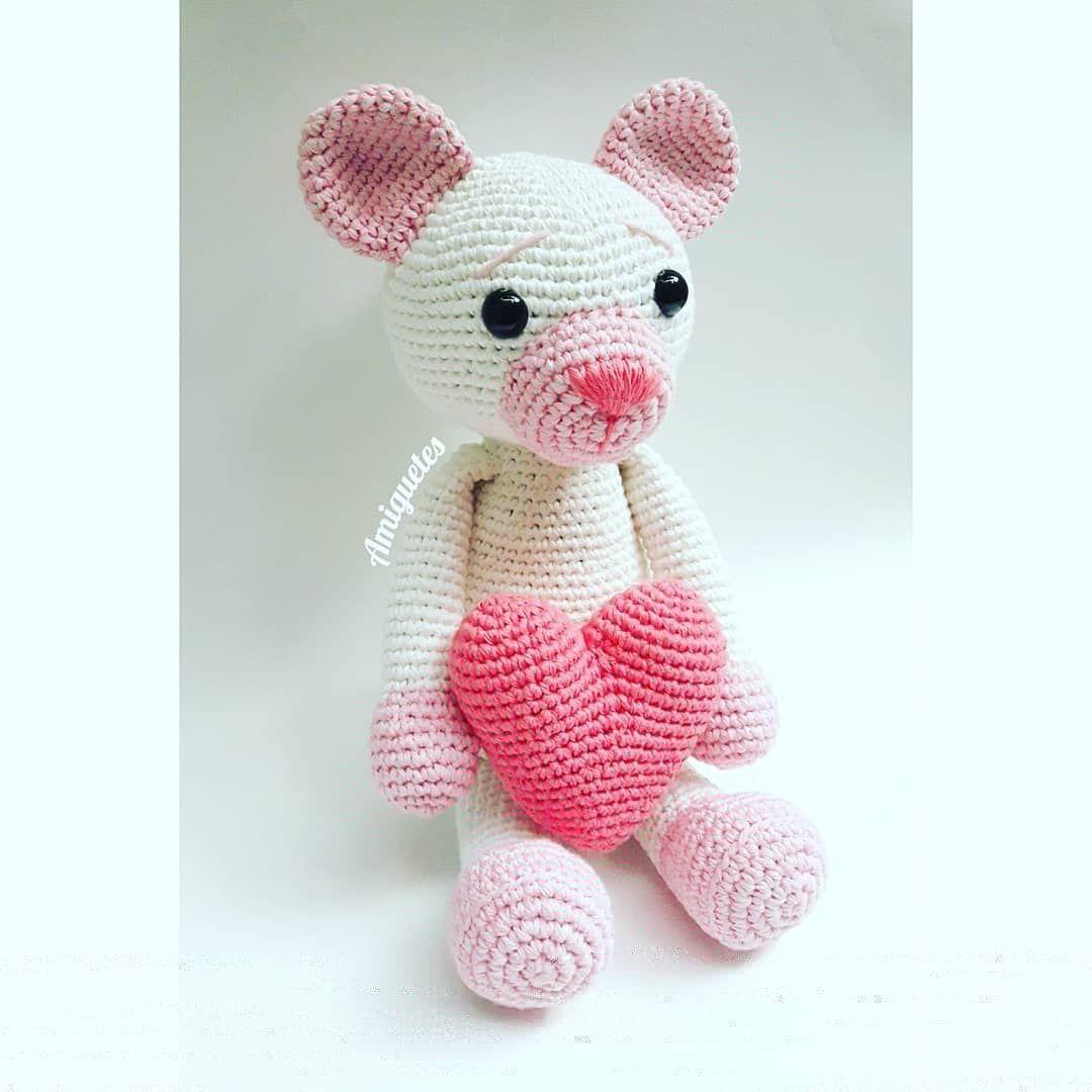 Patrón Oso de San Valentín #amigurumi #crochet #handmade #ganchillo ...