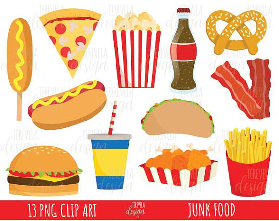 Junk Food Clipart Fast Food Clipart Commercial Use Food Etsy Junk Food Food Clipart Food Stickers