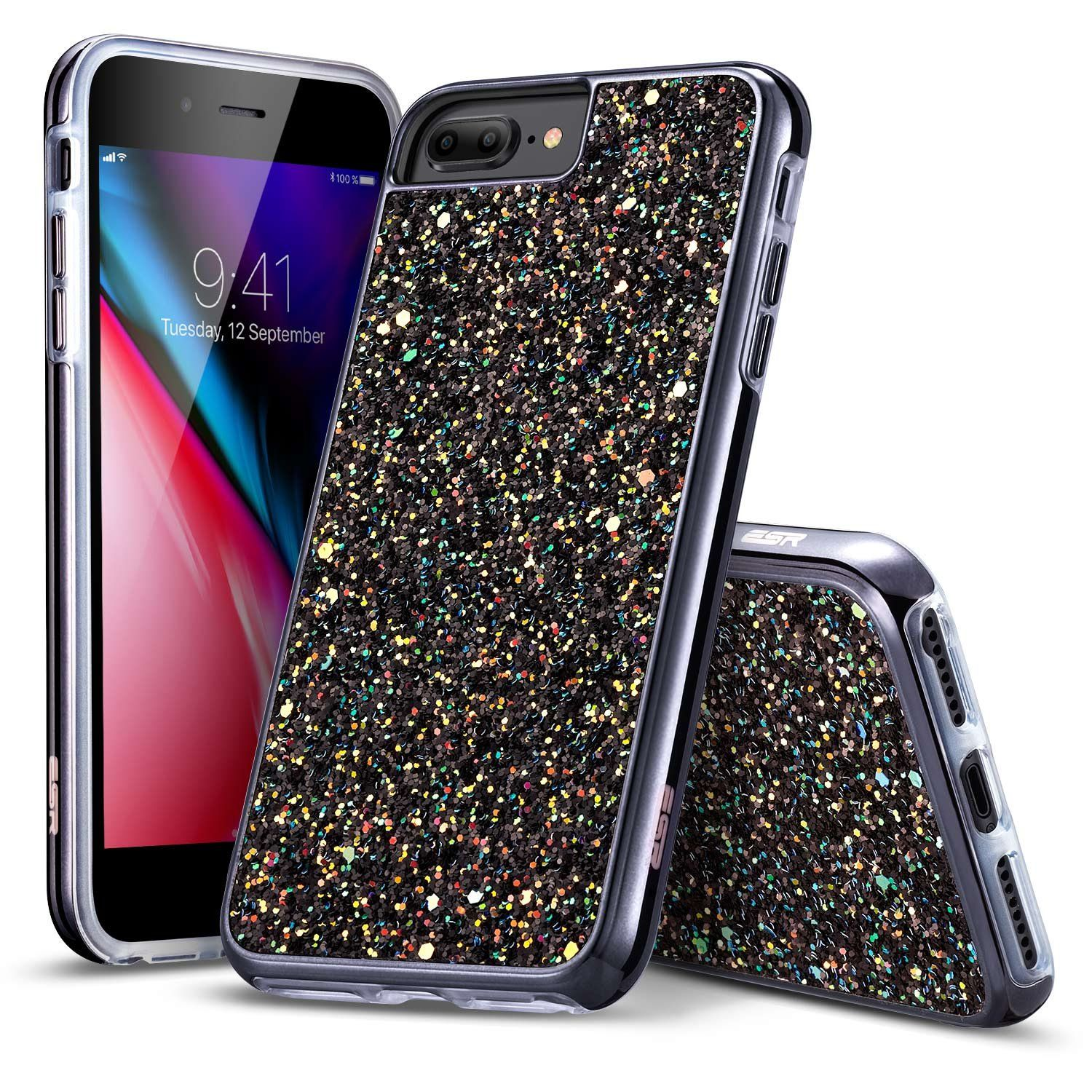 d8c8cf689ccb54 iPhone 8 Plus Case iPhone 7 Plus Case ESR Glitter Bling Hard Cover with  Dual Layer Structure [Hard PC Back Outer Soft TPU Inner] for Apple 5.5  iPhone 8 ...