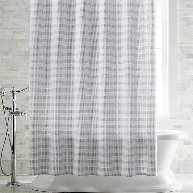 Skyline Grey Shower Curtain Crate And Barrel Gray Shower