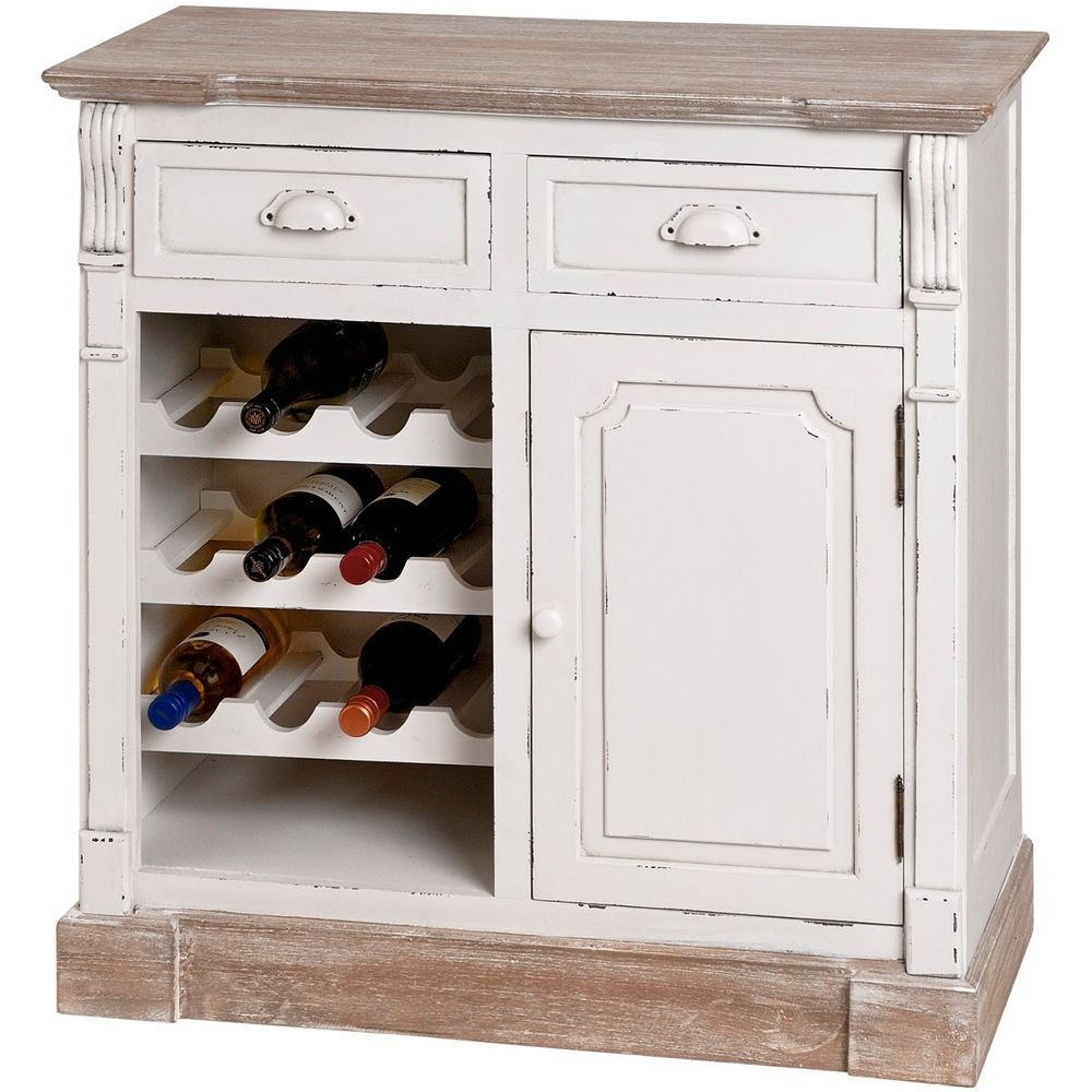 Shabby Chic Wooden Kitchen Cabinet With Wine Rack SALE ...