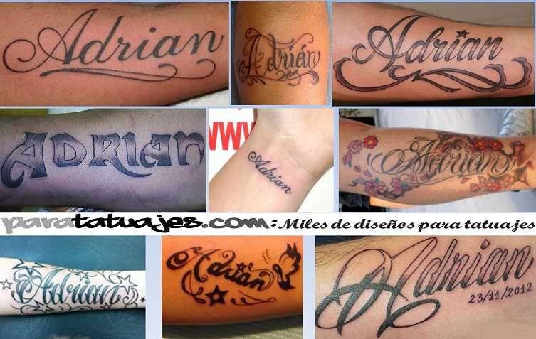tatuaje del nombre de adrian