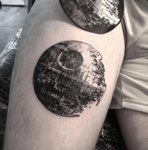 48 Charming Unique Circular Tattoo Designs Star Wars Tattoos