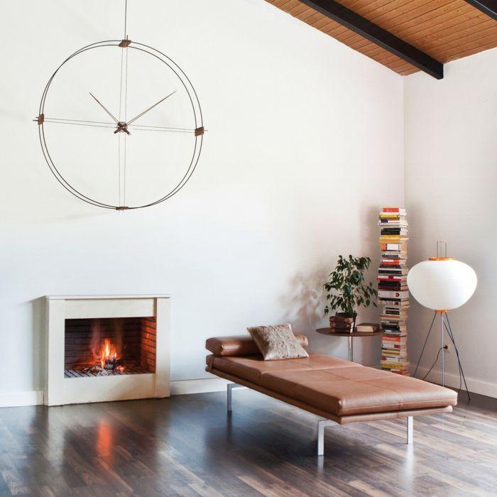 wanddeko ideen für das moderne wohnzimmer futuristische wanduhr - moderne wanduhren wohnzimmer