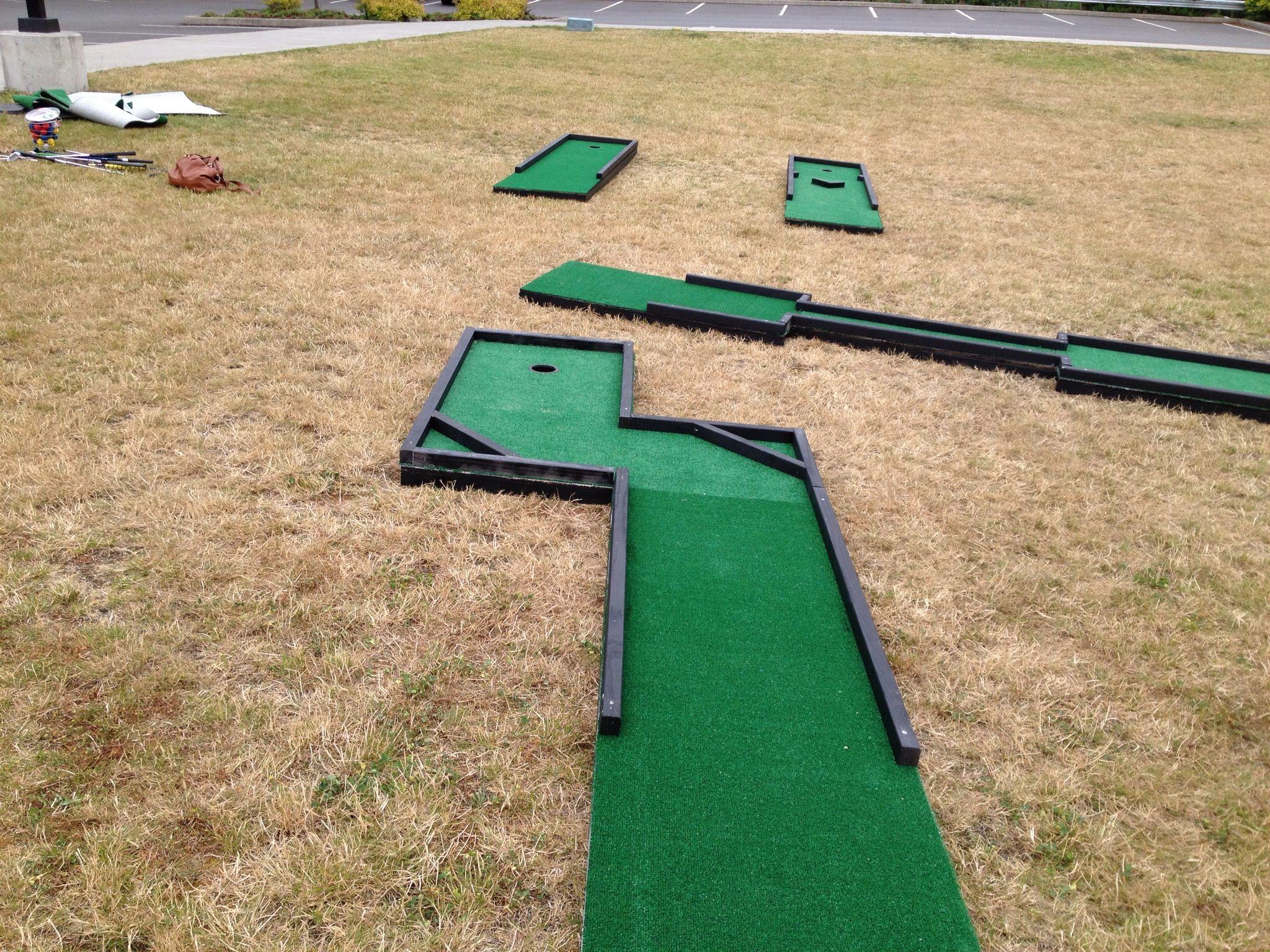 Personally Made Mini Golf Sets Miniature Golf Course Mini Golf Set Golf Card Game Backyard mini golf set