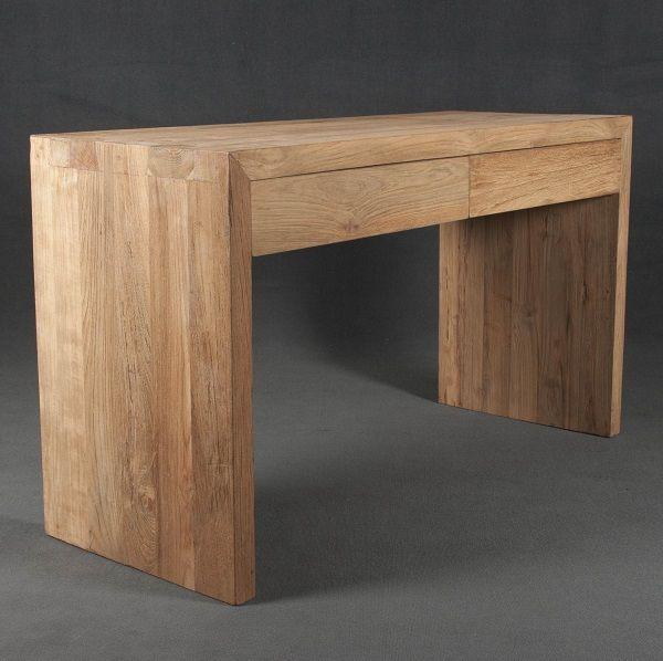 Escritorio de madera para trabajar en casa x hacer for Muebles estilo mexicano contemporaneo