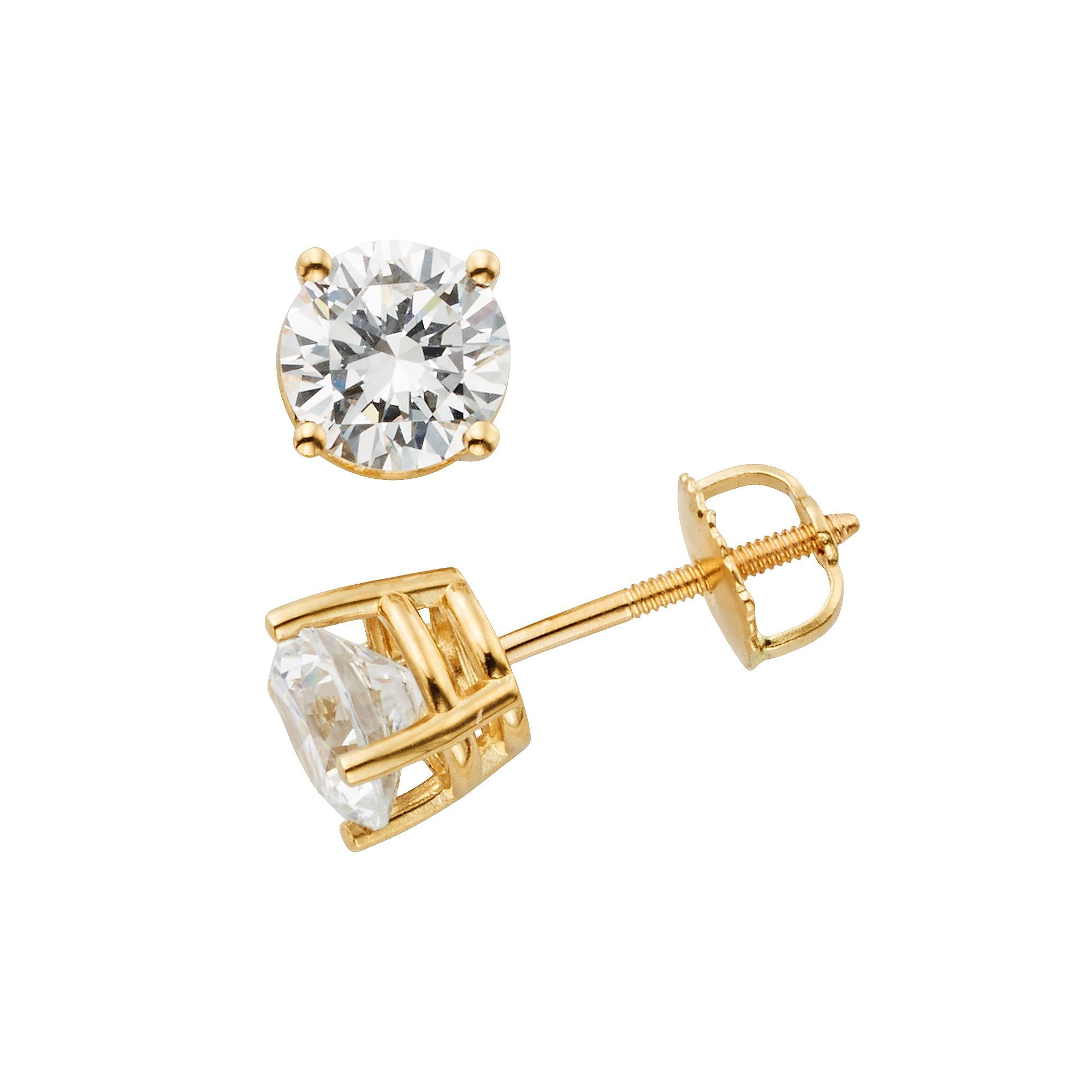 earrings cut loading gold image yg is diamond itm casual ladies solitaire princess dia a stud