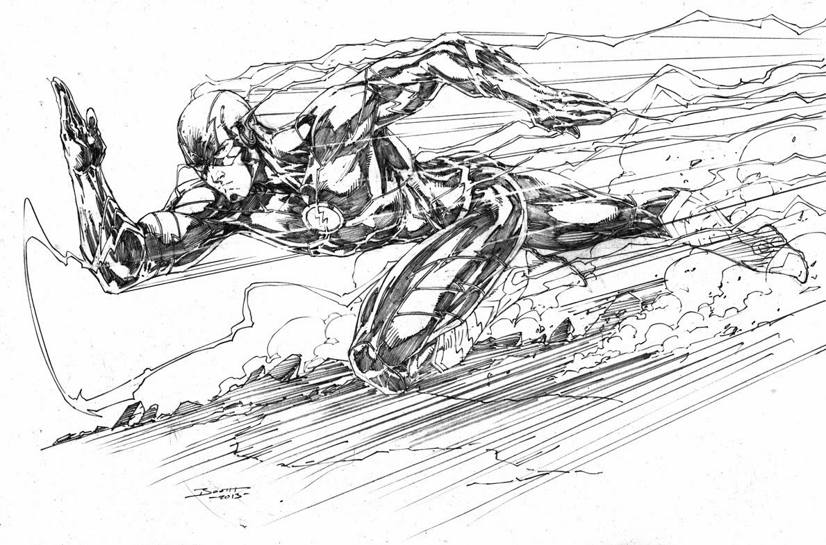 Image Result For The Flash Black And White Drawing