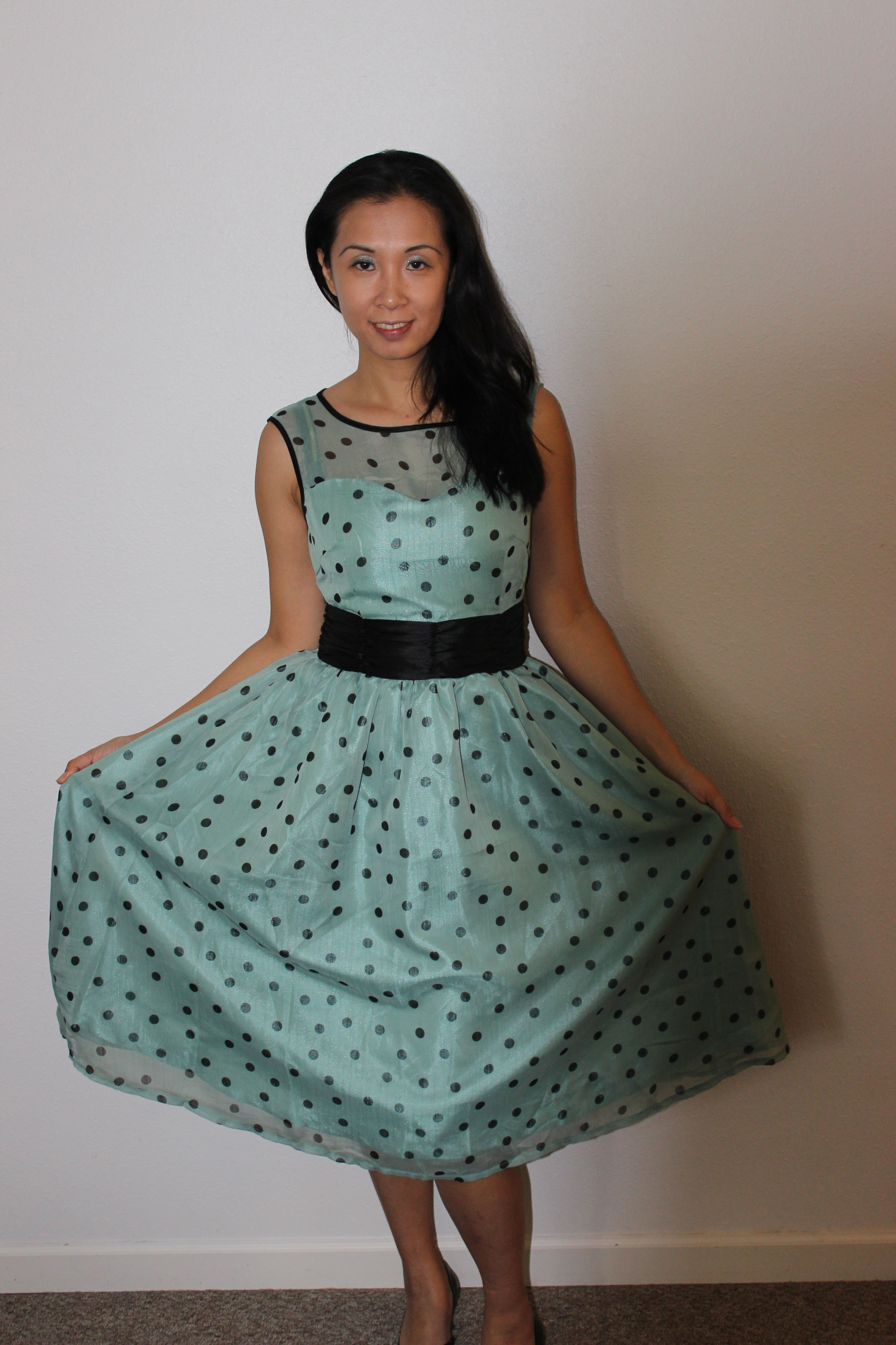 be7bb456d4d74 Lindy Bop Cindy Sage for St. Patrick's Day party and parade ! #lindybop  #greendress #polkadot #polkadotdress #ukdesign #ukbrand #1950s #50s  #retrostyle ...