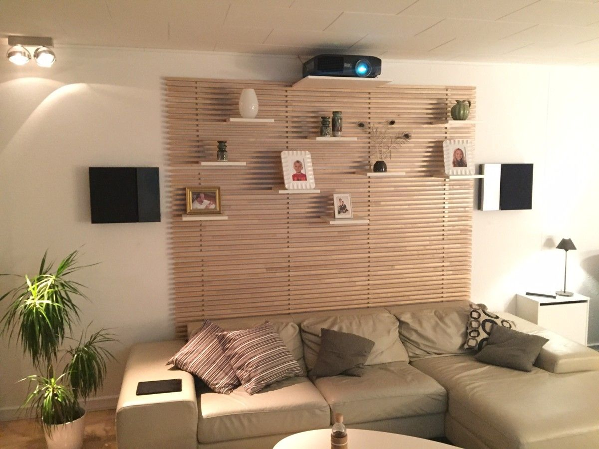 Living room home cinema My stylish projector mount and