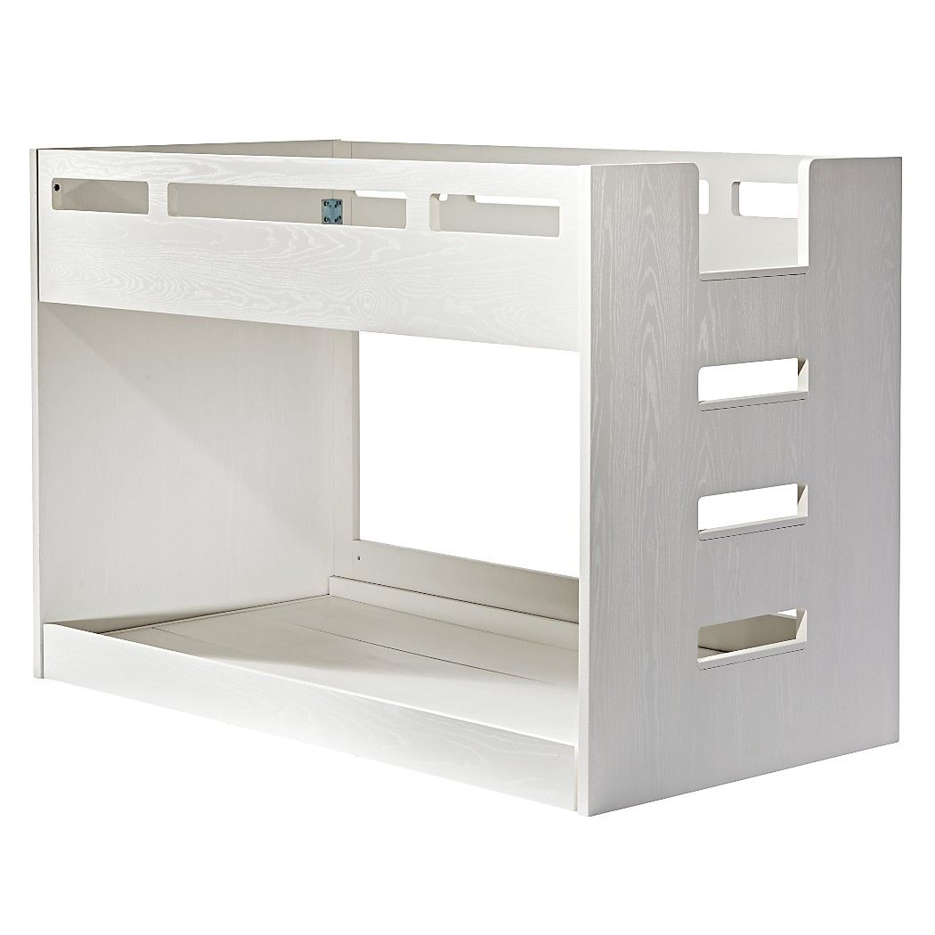 Low loft bed twin  Shop Abridged White Glaze Low Twin Bunk Bed Weuve created a Bunk